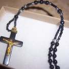 Hematite Rosary Necklace