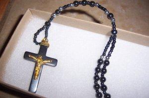 Hematite Rosary Necklace