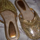 Gold Sequin Flats