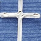 Satin Diamondcut Cross Charm