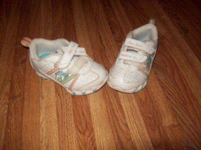 Sketchers Cutie Little Girl Raibow Shoes Size 4 UK FREE SHIPPING