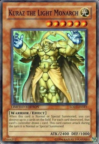 Kuraz the Light Monarch (For use in Yugioh Online 2 ONLY)