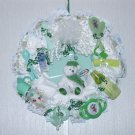 Green Baby Diaper Wreath #002