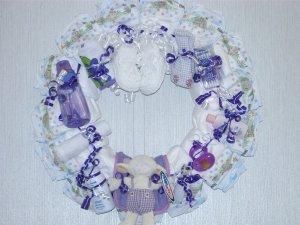 Purple Baby Diaper Wreath #5