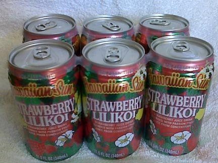 Hawaiian Sun STRAWBERRY LILIKOI fruit juice 6 CANS