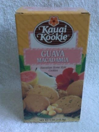 Hawaiian Home Style Cookies - Kauai Kookie - Guava Macadamia