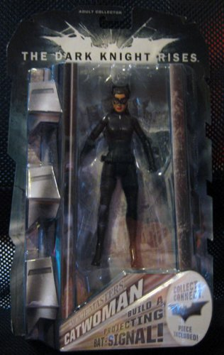Movie Masters Catwoman - Dark Knight Rises with Batsignal Piece- MOC