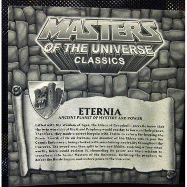 Eternia Map Mattel  He-Man Club Exclusive - Masters of the Universe Classics - MOTUC