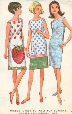 Vintage McCall's 8190 dress Pattern Size 18 B38
