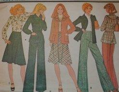 Vintage McCall's Pattern 4661 jacket, blouse, skirt & pants