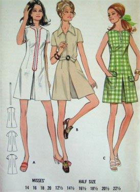 Vintage Butterick Dress or Pantdress Pattern 5800
