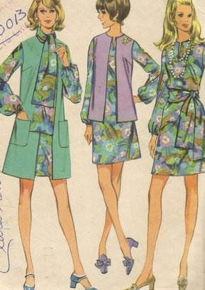 Vintage McCall's 2238 Size 14 Dress, coat or jacket scarf pattern