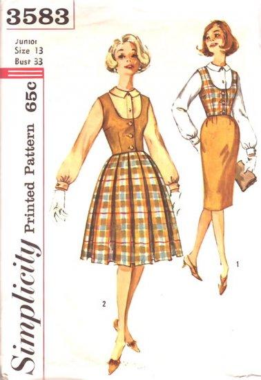 Vintage Simplicity 3583 Size 13, Bust 33