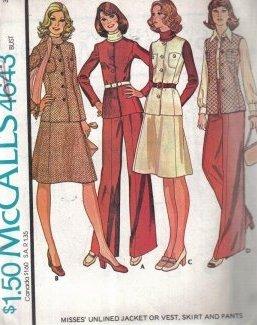 Vintage McCall's 4643 jacket, vest, skirt, pants pattern size 12