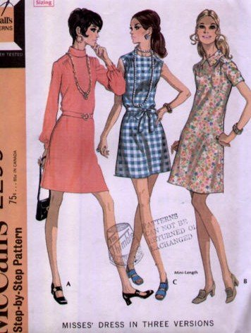 Vintage McCall's Dress Pattern 2299 Size 12