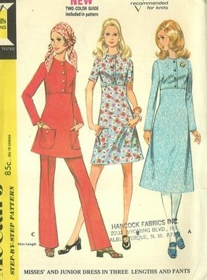 Vintage McCall's 2511 dress & pants Size 12