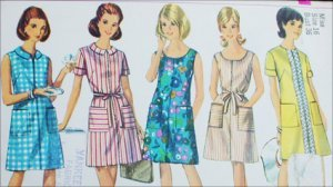 Vintage Simplicity 7025 sewing pattern A line dress size 16 B36