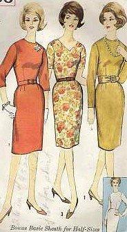 Vintage dress pattern Simplicity 4566 Size 14 1/2 B35