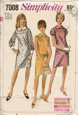 Vintage dress pattern Simplicity 7008 Size 12