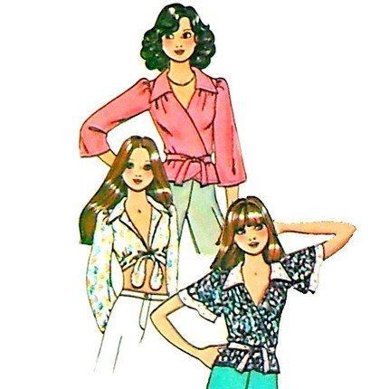 Vintage McCall's wrap Tops pattern 4966 Size 14