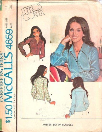 Vintage McCall's Blouses pattern 4659 Marlo's Corner