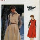 Vintage Butterick Fast & Easy Dress Pattern 4948 Size 14