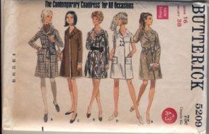 Vintage Butterick 5209 coat wrap dress pattern