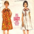 Vintage Butterick tent dress pattern 4349