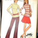 Vintage Simplicity 5254 knit pants, skirt, top pattern Jiffy