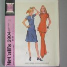 Vintage McCall's pattern 2904 dress, tunic, pants