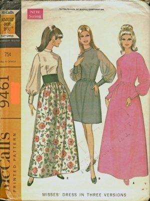 Vintage McCall's Pattern 9461 dress Size 10-12