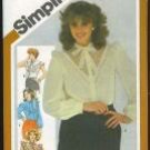 Uncut Vintage Simplicity 5305 ruffled blouse pattern Size 14, B36