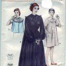Vintage Butterick pattern 5808 Peignoir, nightgown bedjacket