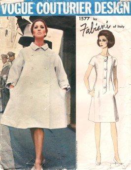 Vintage Vogue Couturier Design Pattern Fabiani 1577 Dress Coat