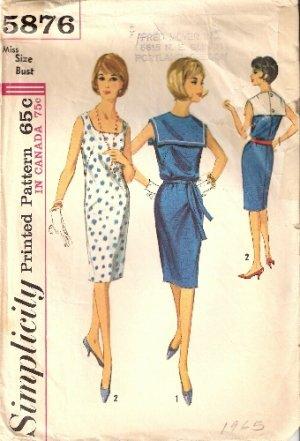 Vintage Simplicity pattern 5876 sleeveless shift dress size 14