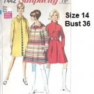 Vintage Simplicity Sewing Pattern 7442 Coat Size 16, Bust 36