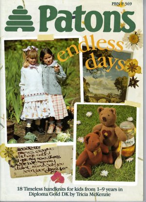 Patons PBN P 369 endless days knitting book patterns for kids 1-9 years