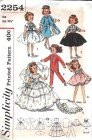 """Simplicity pattern 2254 Vintage Doll Clothes Sewing Size 10 1/2"""""""