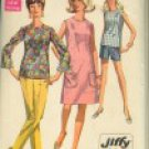 Vintage Simplicity 7599 Jiffy Pattern dress, overblouse, pants, shorts