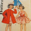 Vintage Butterick 9717 Girls dress and raglan sleeved coat size 5