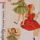 Simplicity 3609 Vintage Children's Dress Pattern Girl's Size 2