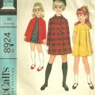 McCall's 8924 Vintage Child's Dress & Coat pattern Size 4