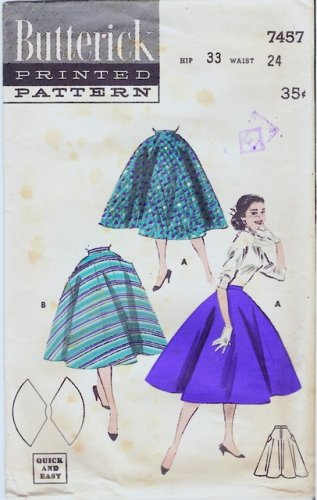 vintage Sewing Pattern Butterick 7457 size waist 24