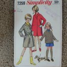 Vintage Girl's Coat Pattern EUC Simplicity 7259 Size 10