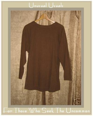 COTTON COTTON Brown Pullover shirt Tunic top Small S