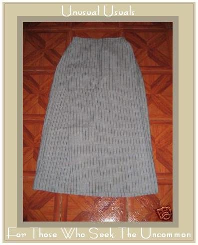 FLAX by Jeanne Engelhart Assymetrical Vinage Stripe SKIRT SMALL S