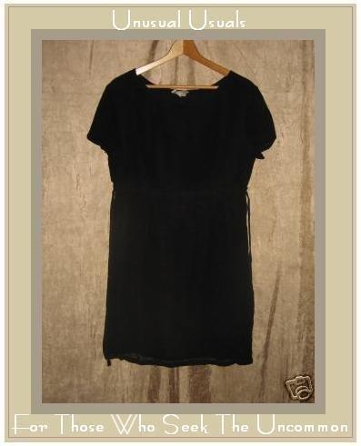 PUTUMAYO Fluttery Light Black Shapely Dress Medium M