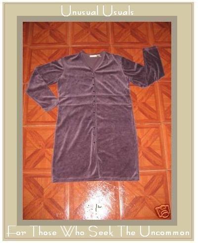 J. JILL Soft Purple Velour Button Dress Jacket SMALL S