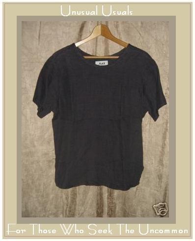 FLAX Jeanne Engelhart Linen Pullover Shirt Tunic Top Petite P