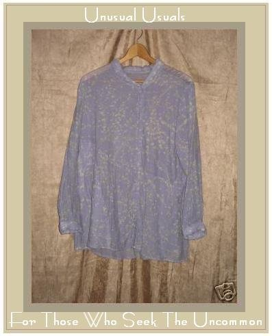 FLAX by Jeanne Engelhart Branching Out Tunic Top Shirt Small S